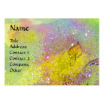 BUTTERFLY IN GOLD YELLOW PURPLE GREEN SPARKLES PACK OF CHUBBY BUSINESS CARDS