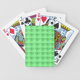 Butterfly in green bicycle playing cards