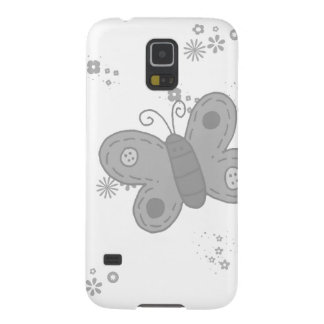 Butterfly in grey galaxy s5 cases