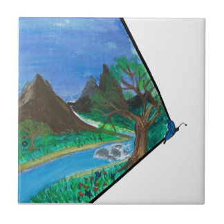 Butterfly in Mountains Tiles