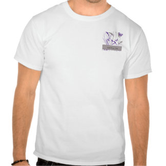 Butterfly in Purple and Grey Tee Shirt