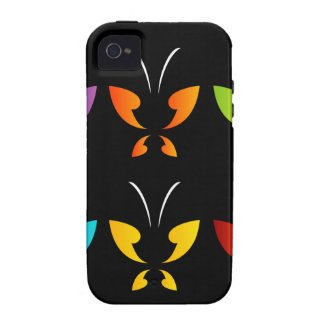 Butterfly in rainbow colors Case-Mate iPhone 4 covers