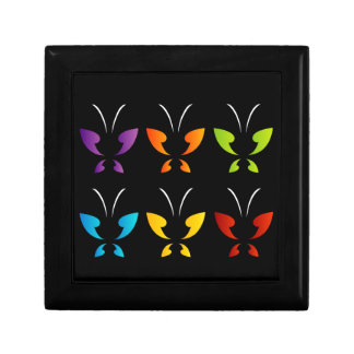 Butterfly in rainbow colors trinket boxes