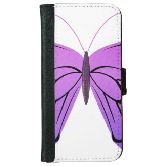 Butterfly in Shades of Purple iPhone 6 Wallet Case