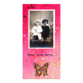BUTTERFLY IN SPARKLES CUSTOMIZED PHOTO CARD