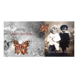 BUTTERFLY IN SPARKLES PERSONALISED PHOTO CARD
