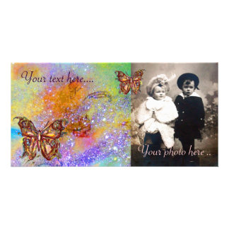 BUTTERFLY IN SPARKLES PICTURE CARD
