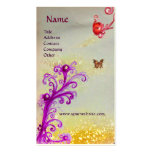 BUTTERFLY IN SPARKLES SILVER PLATINUM MONOGRAM BUSINESS CARD TEMPLATES