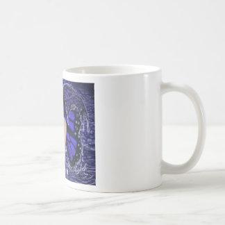 butterfly in the rain basic white mug