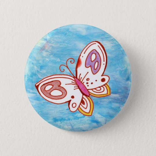 Butterfly in the Sky Button