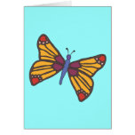 Butterfly in Warm Colours Card