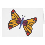 Butterfly in Warm Colours Greeting Card