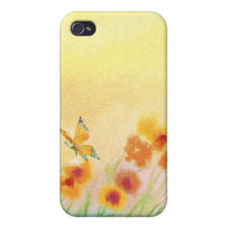 butterfly in wild field iPhone 4/4S covers