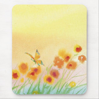 butterfly in wild field mousepad