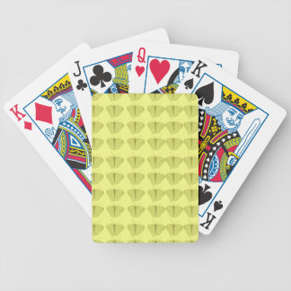Butterfly in yellow bicycle playing cards