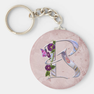 Butterfly Initial R Keychains