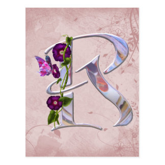 Butterfly Initial R Postcard