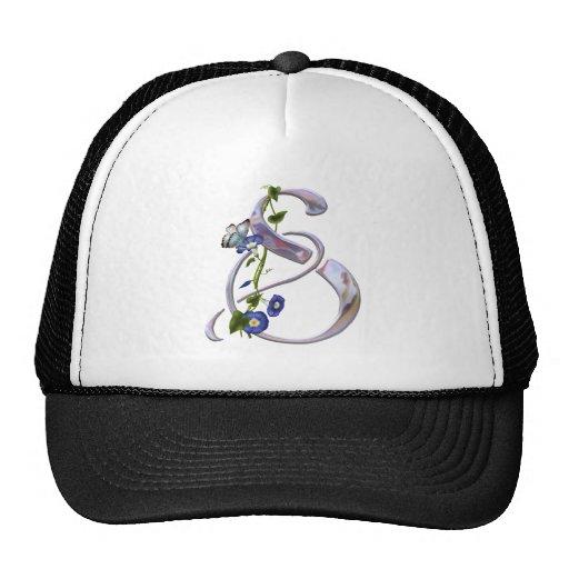 Butterfly Initial S Trucker Hats