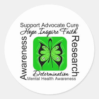 Butterfly Inspiration - Mental Health Awareness Round Sticker