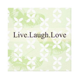 Butterfly Inspirations Live Laugh Love Canvas Print