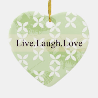 Butterfly Inspirations Live Laugh Love Ceramic Heart Decoration