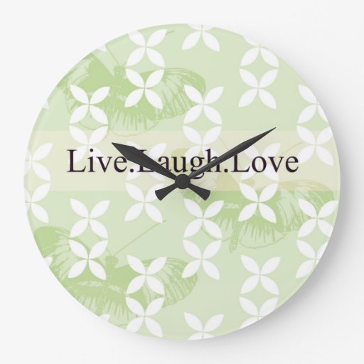Butterfly Inspirations Live Laugh Love Clock
