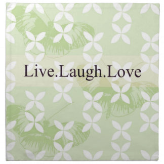 Butterfly Inspirations Live Laugh Love Cloth Napkins