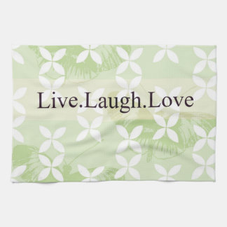 Butterfly Inspirations Live Laugh Love Kitchen Towel