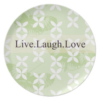 Butterfly Inspirations Live Laugh Love Party Plate