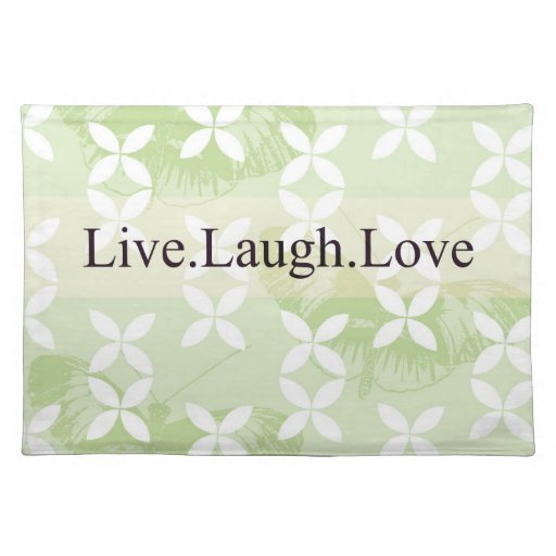 Butterfly Inspirations Live Laugh Love Place Mats