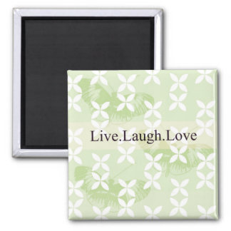 Butterfly Inspirations Live Laugh Love Square Magnet