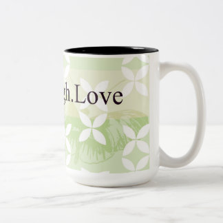 Butterfly Inspirations Live Laugh Love Two-Tone Mug