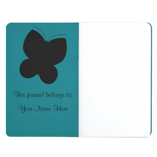 Butterfly Journal Personalizable