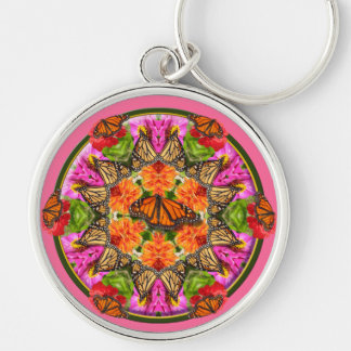 Butterfly Kaleidoscope Key Ring