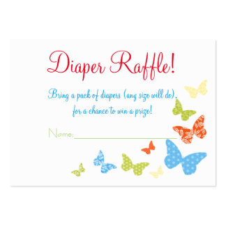 Butterfly Kisses Baby Shower Diaper Raffle Tickets Pack Of Chubby Business Cards