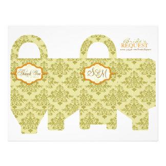 Butterfly Kisses Charming Favor Basket Template 2 Custom Flyer
