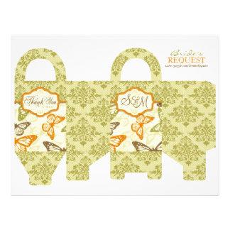 Butterfly Kisses Charming Favor Basket Template Custom Flyer