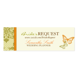 Butterfly Kisses Charming Skinny Business Card