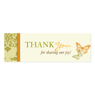Butterfly Kisses Charming TY Skinny Card Business Cards