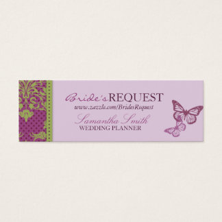 Butterfly Kisses Flirt Skinny Business Card