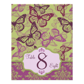 Butterfly Kisses Flirt Table Card B2