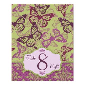 Butterfly Kisses Flirt Table Card B2 11.5 Cm X 14 Cm Flyer