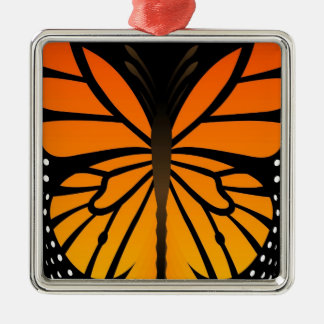 Butterfly Kisses Floral Angel Graphic Design Silver-Colored Square Decoration