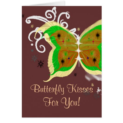 Butterfly Kisses For You! Greeting Cards