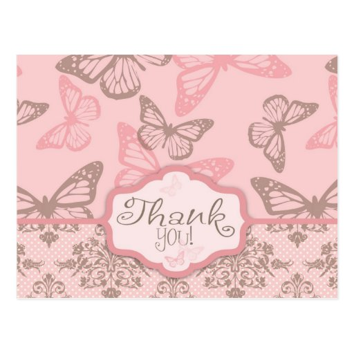 Butterfly Kisses Petal TY Postcard
