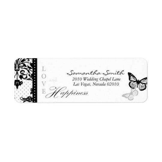Butterfly Kisses Return Label B_DrMullins Return Address Label