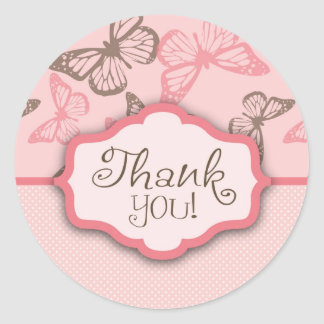 Butterfly Kisses Thank You Sticker