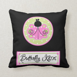 Butterfly Kisses Welcome American MoJo Pillow