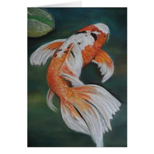 Butterfly Koi Fish Art Notecard
