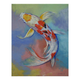 Butterfly Koi Fish Print